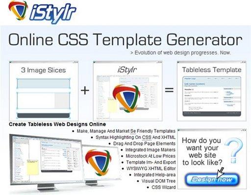 iStylr - générateur de templates CSS en ligne