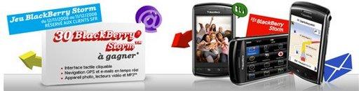 30 Blackberry Storm a gagner chez SFR