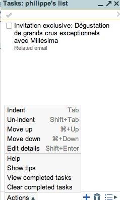 Gmail - Task et SMS au programme des nouveautés