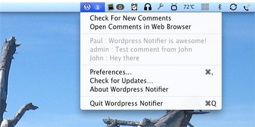 Wordpress Notifier pour Mac
