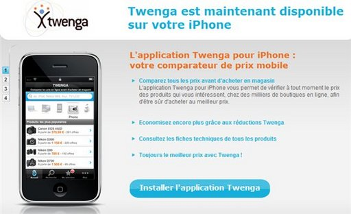 Twenga pour iPhone maintenant disponible sur l'APP Store