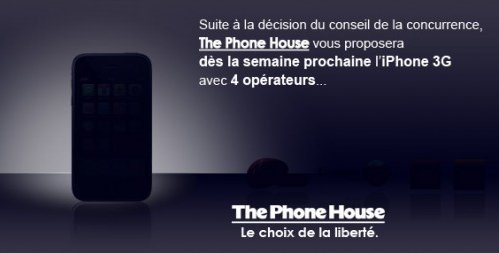 The Phone House annonce l'iPhone chez Orange, SFR, Bouygues Telecom