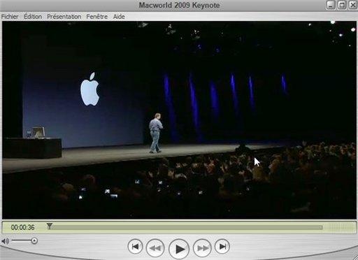 La vidéo de la keynote 2009 en direct du MacWorld