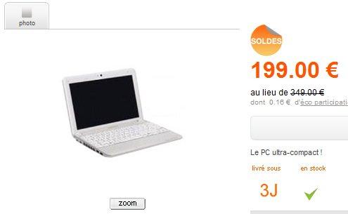 Medion Akoya E1210 à 199 Euros en solde chez Orange