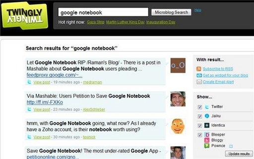 Twingly ouvre un moteur de recherche spécial Microblogging
