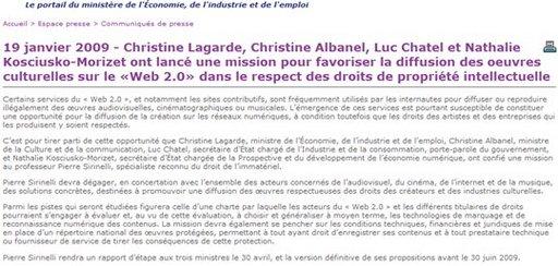 Le gouvernement français veut favoriser la diffusion des oeuves culturelles sur le Web 2.0