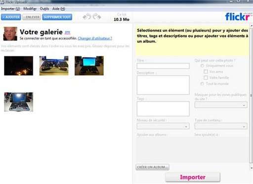 Nouvelle version pour Flickr Uploadr