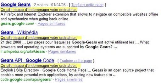 Google interdit l'accès à tous les sites internet, même les siens