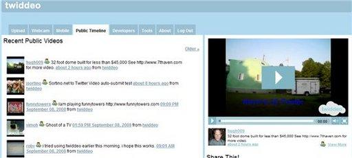 Twiddeo - Twitter en vidéo