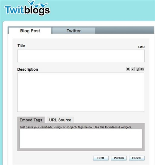 Twitblogs = twitter + blog