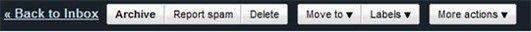 Gmail - nouvelle barre d'outils