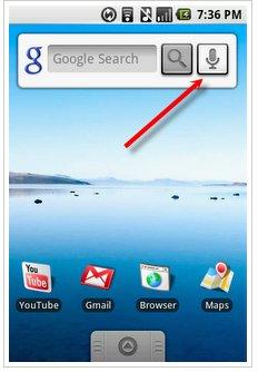 Reconnaissance vocale sous Android G1