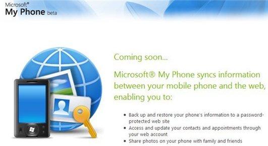 My Phone - Le MobileMe de Microsoft