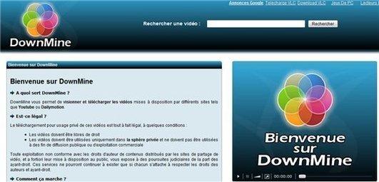 DownMine - téléchargement de vidéo Youtube, Dailymotion ...