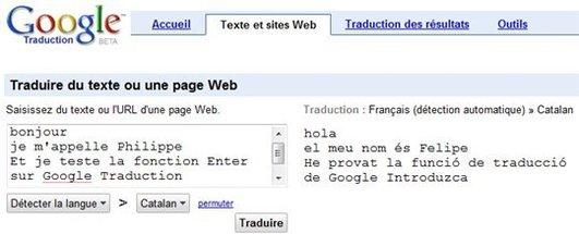 Petite amélioration de Google Traduction ... ou alors c'est moi