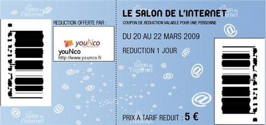 YouNco vous offre votre entrée au Salon de l'Internet ( enfin presque )