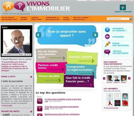 Le Credit Foncier se met au Web 2.0