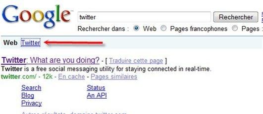 Intégrer Twitter dans les résultats de Google