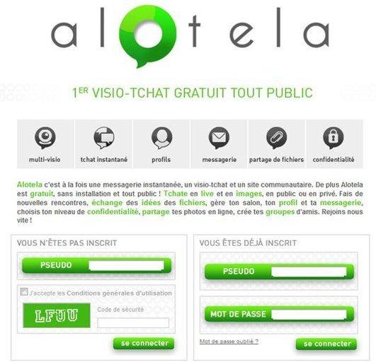 Alotela - Tchat multi visio comme sur Yahoo! Live ( ben non )