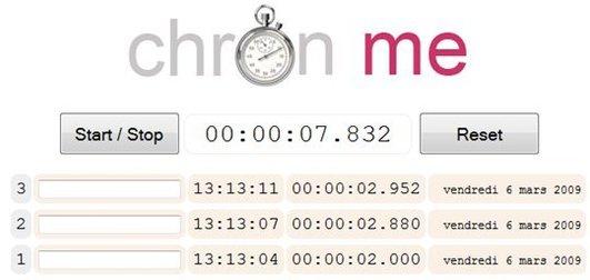 Chron Me - Un chronomètre en ligne