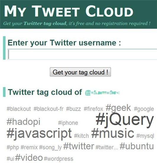 My Tweet Cloud - Retrouver ses Twit classés par Tag