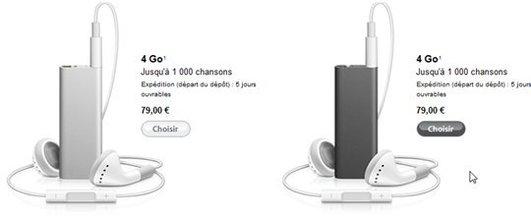 Nouveaux iPod Shuffle 4 Go chez Apple - l'iPod qui vous parle