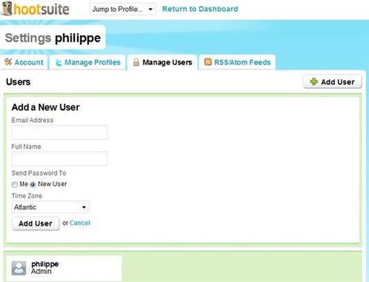 HootSuite - une administration de comptes Twitter adaptée à une entreprise