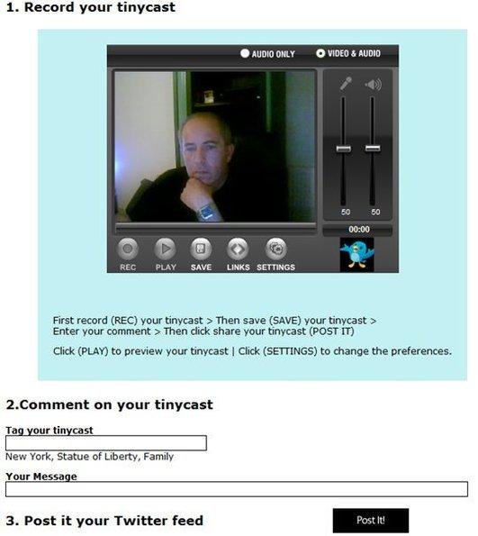 Tinycast - Twittez en vidéo