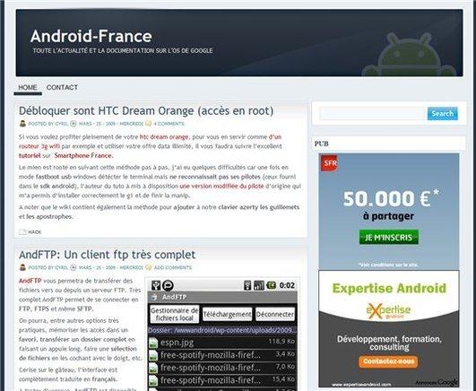 [coup de pouce] Android-France - Le blog des passionnés et développeurs