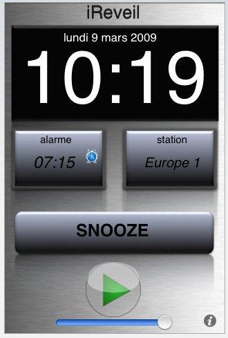 (rapido) iReveil pour iPhone gratuit jusqu'à ce soir