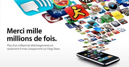1 Milliard de téléchargements d'applications iPhone