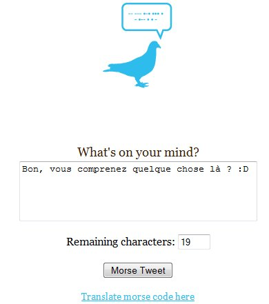 MorseTweet - Et maintenant Twittons en Morse