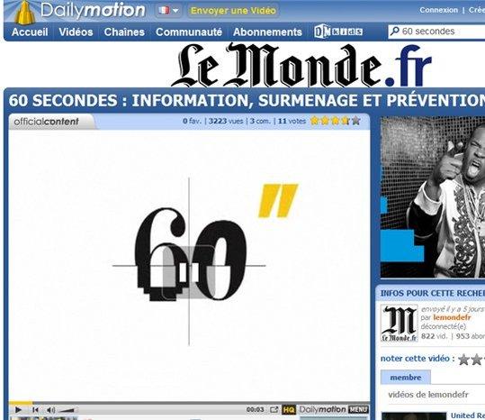 Dailymotion et Le Monde s'unissent pour proposer une offre commune de sponsoring publicitaire