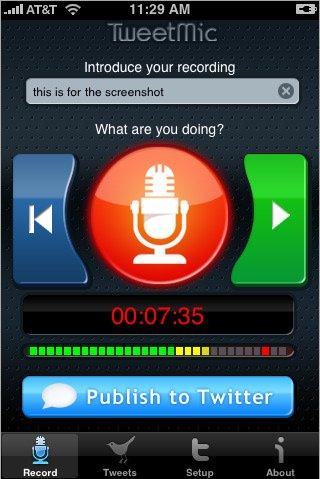 TweetMic - Twittez votre voix au lieu d'écrire avec l'iPhone