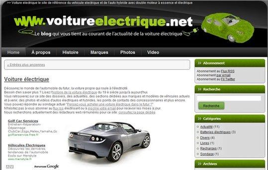 [coup de pouce] Un blog sur les voitures électriques
