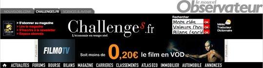 AccessOWeb sélectionné dans le classement Challenges 2009