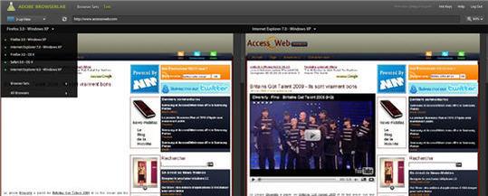 Adobe BrowserLab - Testez votre site dans différents navigateurs
