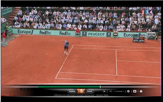 Roland Garros en HD 720p avec contrôle du direct ça le fait sur France Télévisions