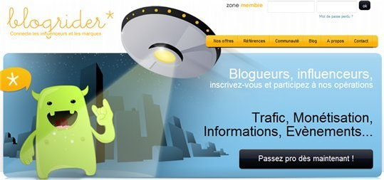 Blogrider - Nouvelle plateforme