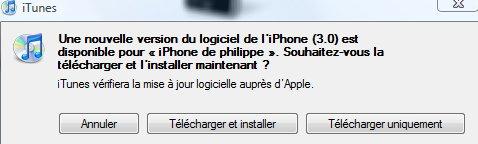Télécharger le Firmware 3.0 iphone