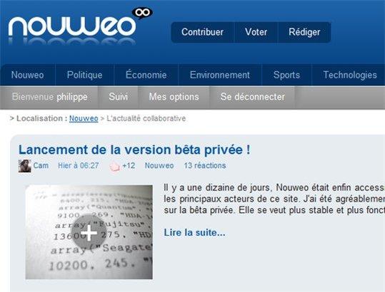 Nouweo - Le Wikipedia de l'information (100 invitations)