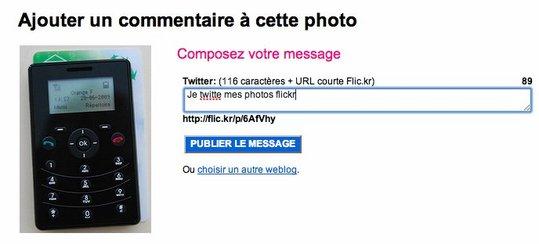 Flickr2Twitter - Twittez vos photos Flickr