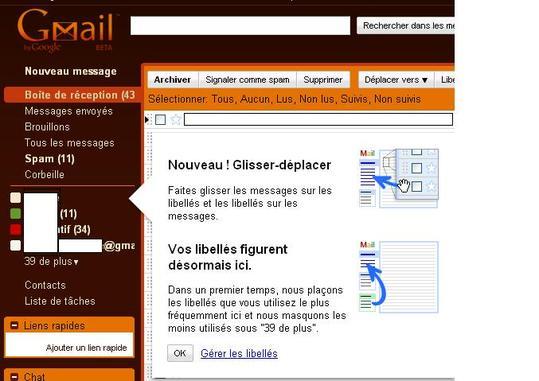 Gmail - Simplification de classement des mails