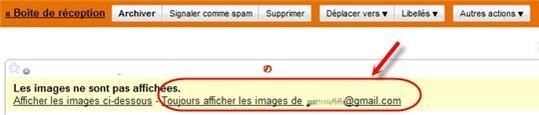 Gmail - Affichez automatiquement les images provenant de vos contacts