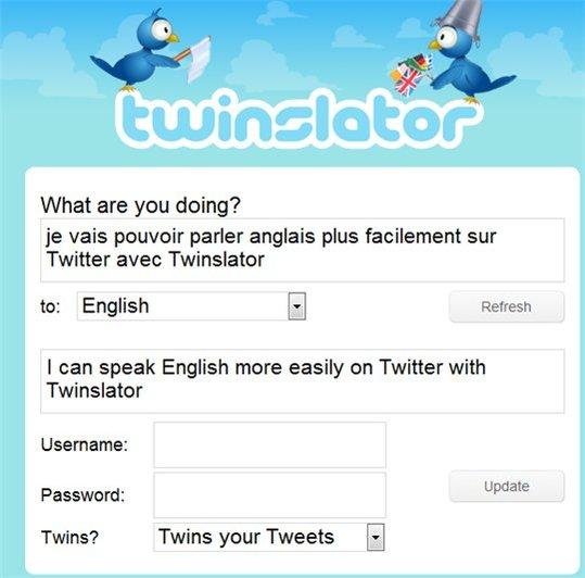 Twinslator - traduisez vos Twit dans la langue que vous souhaitez