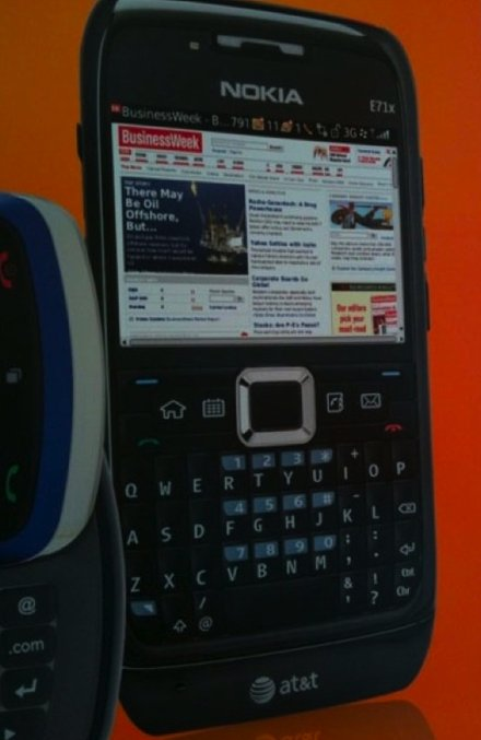 Nokia e71x sous OS Blackberry, ça le fait