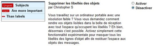 Gmail - Supprimer les libells des mails sur un Netbook