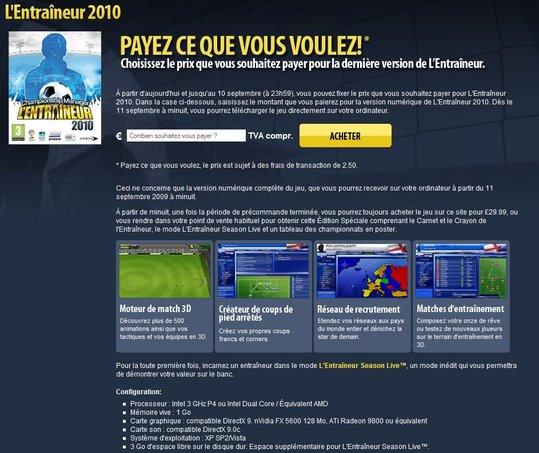 L'Entraineur 2010 - Achetez le jeu au prix que vous voulez