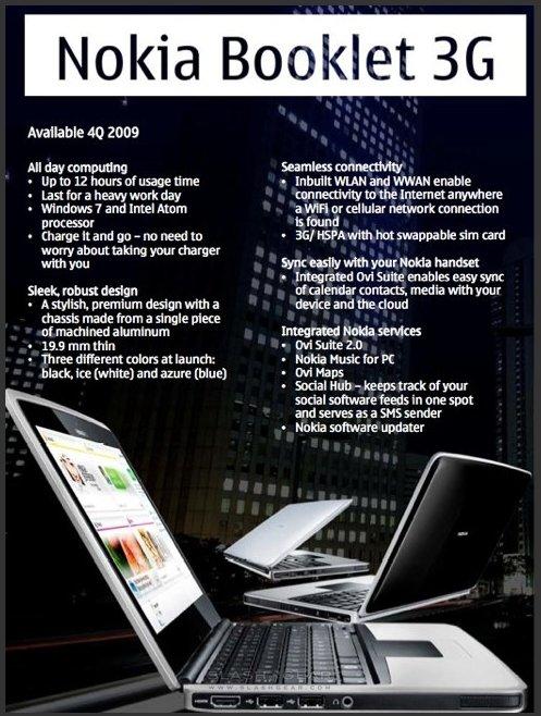 [Nokia World] Le Nokia Booklet 3G en images