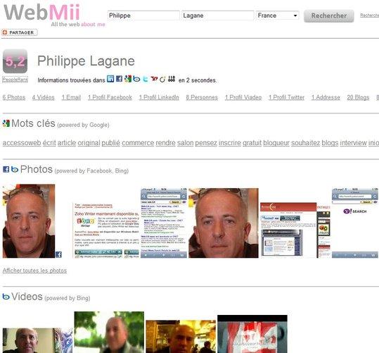 WebMii - Toute votre identité numérique en 1 clic